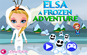 Juego Elsa Frozen Adventure Snowgies