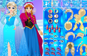 Anna and Elsa Frozen Dress Up