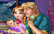 Juego Anna and Kristoff Baby Feeding
