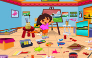 Juego Dora Drawing Room Cleaning