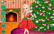 Juego Elsa Decorate Christmas Tree