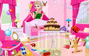 Juego Elsa Birthday Cleaning