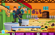 Juego Frozen Kristoff Stable Cleaning