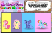Juego My Little Pony Colours Memory