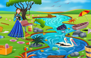 Juego Princess Anna River Cleaning